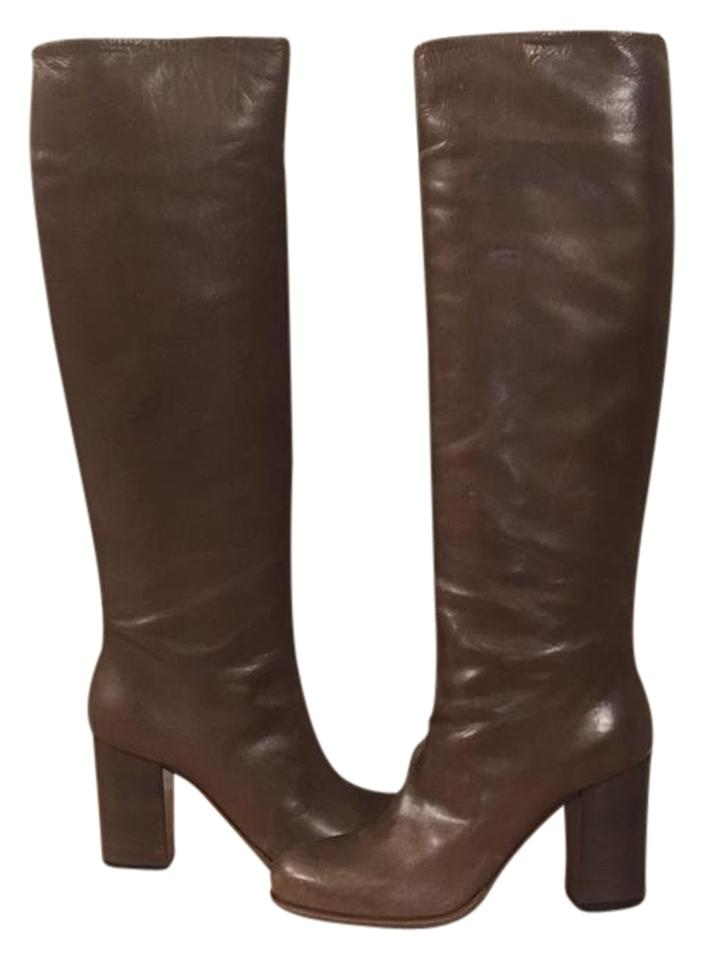 d7ee946c0a Prada Brown/Walnut Color Calzature Donna Leather Boots/Booties Size ...