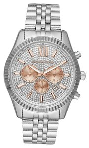 Michael Kors 100% NEW Lexington Crystal Pave Dial Ladies Chronograph Watch MK8515