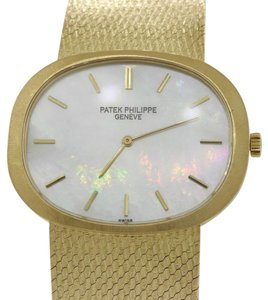 Patek Philippe Ellipse 3583 Solid 18k Yellow Gold MOP Dial 34mm Manual Watch