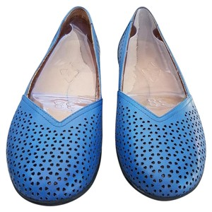 Dansko Leather Cobalt Blue Flats