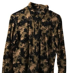 BDG Button Down Shirt black,camo green