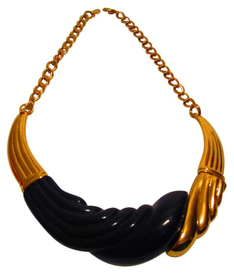 Park Lane Goldtone Necklace w/Faux Blue Stone