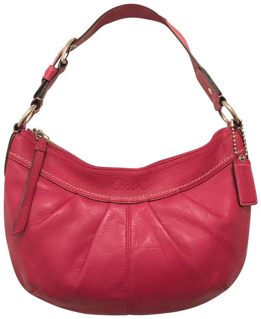 Item - Soho Pleated Med F13730 Pink Silver Leather Hobo Bag