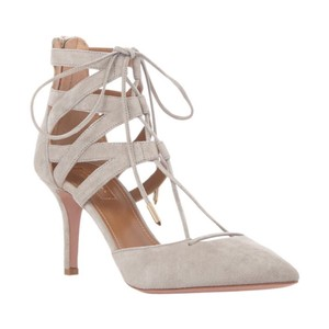 Aquazzura Grey Pumps