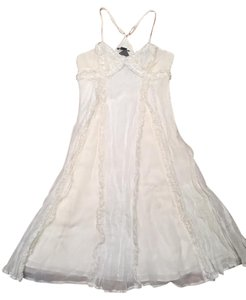 A|X Armani Exchange short dress White Ruffle Beach on Tradesy