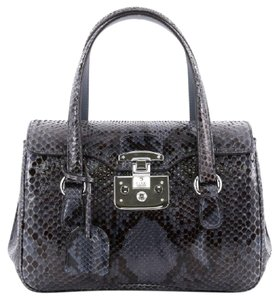 Gucci Python Satchel in Blue and Black