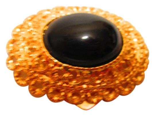 Park Lane Scarf Brooch with Faux Black Stone