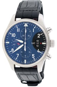 IWC IWC Pilot's Fliegeruhr Chronograph Day-Date 43mm Black Dial IW377701
