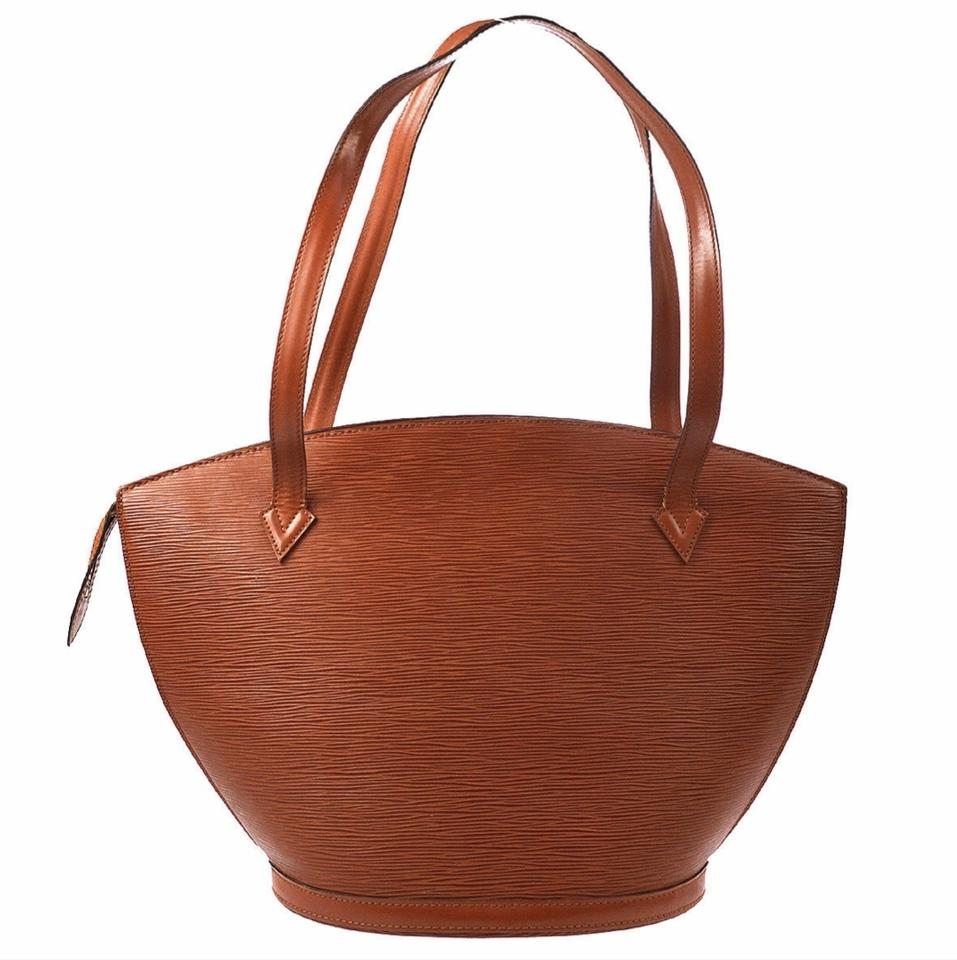 870cb802051f Louis Vuitton St Jacques Leather Brown Epileather Shoulder Bag - Tradesy