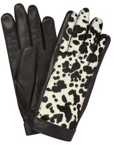 Burberry NWT BURBERRY PRORSUM $695 HAIR CALF LEATHER GLOVES SZ 8 MADE IN ITALY