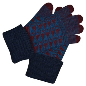 Burberry NWT BURBERRY PRORSUM $375 FAIRISLE 100% CASHMERE GLOVES MADE IN ITALY