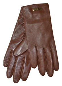 Burberry NWT BURBERRY LEATHER TOUCH JENNY CASHMERE LINED GLOVES SZ 7