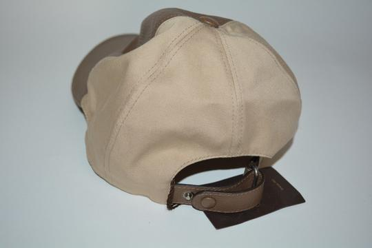 Gucci NWT GUCCI CALF LEATHER INTERLOCKING GG BASEBALL CAP HAT SZ LARGE Image 2