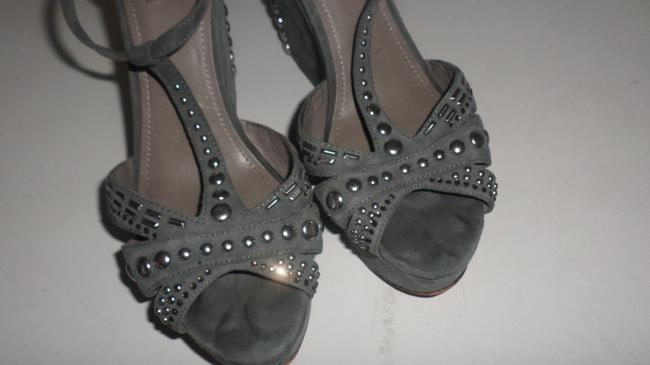 Vince Camuto Grey & Silver Women's Simonas Studded Sandals Wedges Size US 10 Regular (M, B) Vince Camuto Grey & Silver Women's Simonas Studded Sandals Wedges Size US 10 Regular (M, B) Image 5