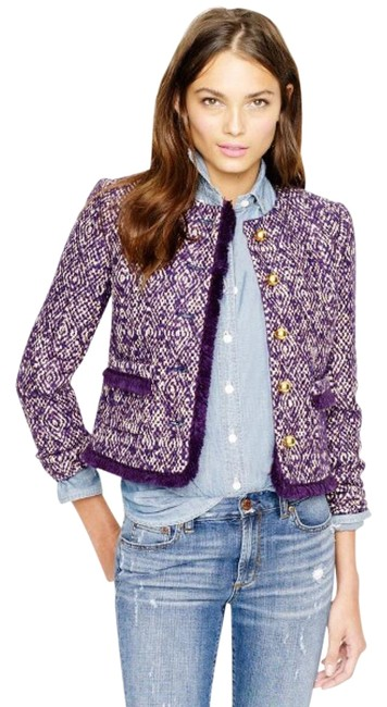 Item - Purple Corkscrew Tweed Jacket Size 2 (XS)