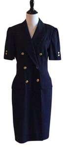 Kasper ASL Petite short dress navy blue 65% Polyester 35% Viscose Rayon Lining Nylon Dry Clean on Tradesy
