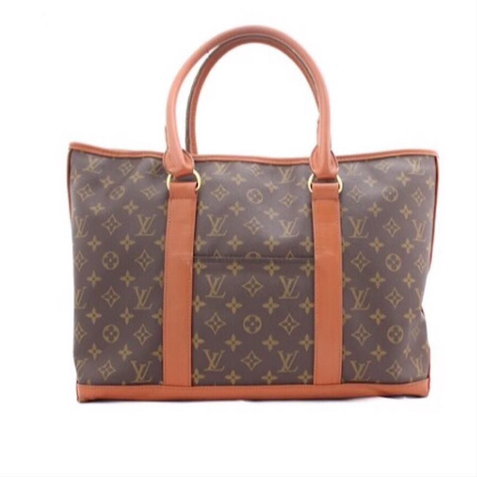 louis vuitton vintage monogram weekender tote bag on tradesy. Black Bedroom Furniture Sets. Home Design Ideas