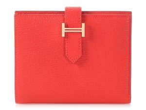 Hermès Medium Rouge Tomate Bearn Wallet