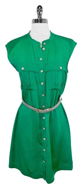 Preload https://item1.tradesy.com/images/-green-textured-silk-belted-mid-length-short-casual-dress-size-4-s-2229605-0-0.jpg?width=400&height=650