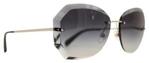 3b21bf35ee2e7 Chanel Round Prism Silver Gradient Blue Sunglasses 4220 c.395 3G