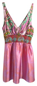 Alice & Trixie Floral Silk Tunic And Size S Top Pink 4/6