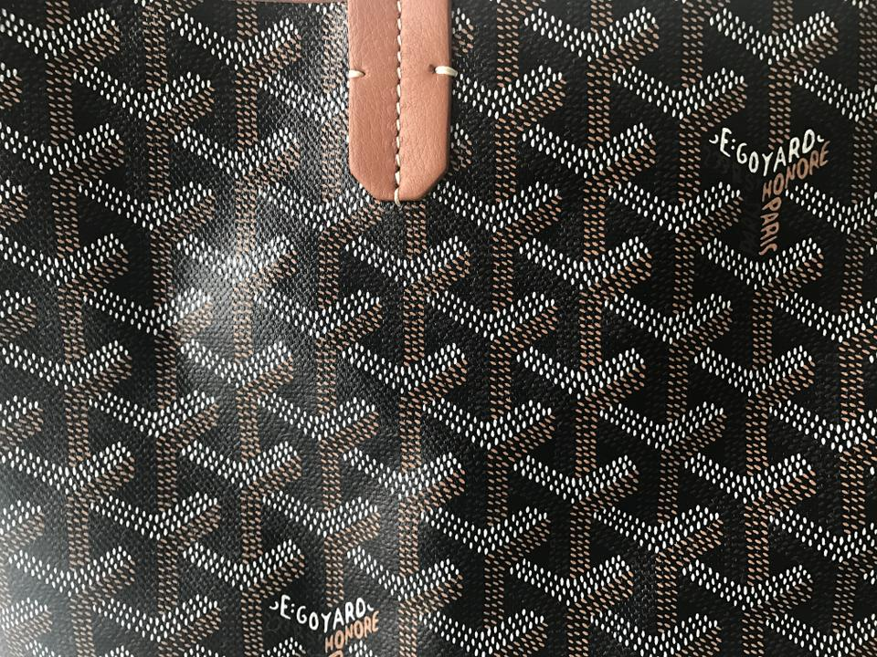 Goyard - Classic Chevron St. Louis Pm Tan Black Coated Canvas and ...