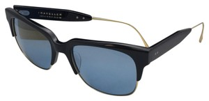 Dita New DITA Sunglasses TRAVELLER 19014-A-BLK-GLD-55 Black & Gold w/Blue