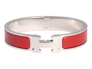 Hermès Narrow Red Clic Clac Bracelet