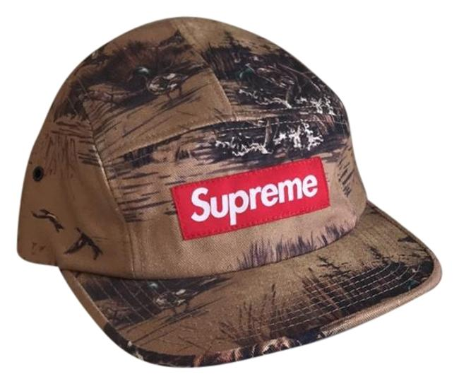 Item - Tan 5-panel Canvas Dog and Ducks Camp Hat