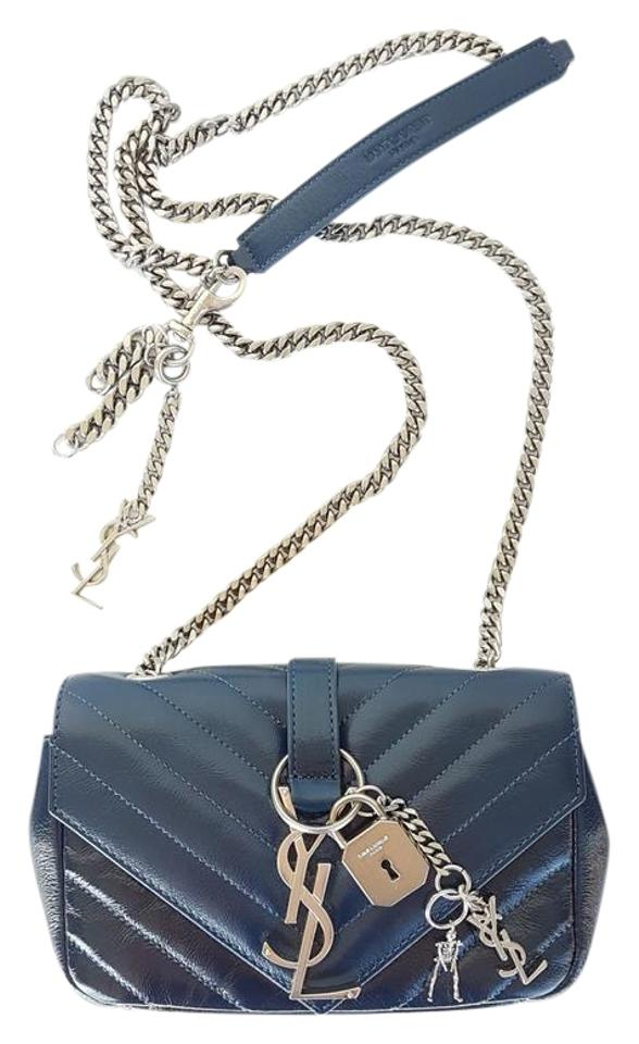 Saint Laurent 100 Off Like New Ysl Classic Baby Punk Monogram Chain  Matelasse Deep Blue Leather Cross Body Bag 88d5f28bbf788