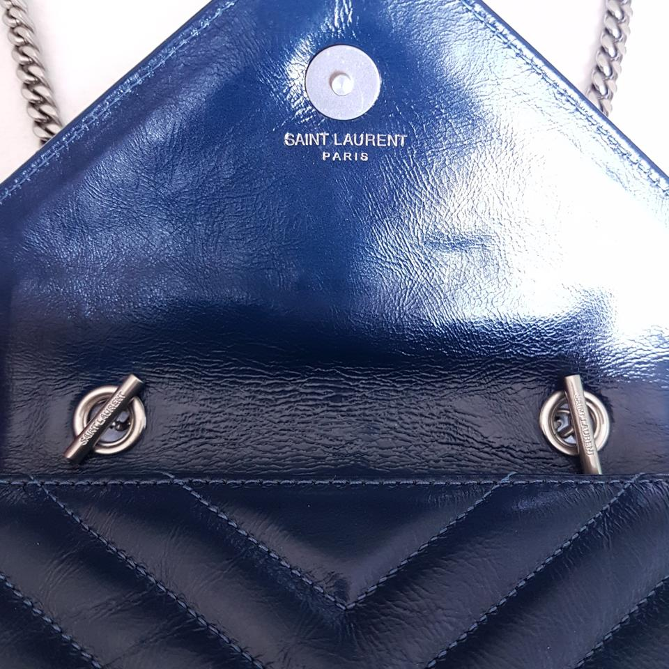 Saint Laurent 100 Off Like New Ysl Classic Baby Punk Monogram Chain  Matelasse Deep Blue Leather Cross Body Bag - Tradesy 9a7e7543c9679