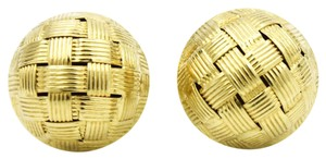 Roberto Coin Roberto Coin Appassionata Button Stud Earrings in 18k Yellow Gold