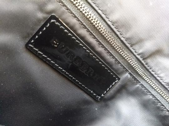 Burberry Checkered Oversized Monogram Logo Patent black and white check Travel Bag Image 4