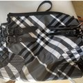 Burberry Checkered Oversized Monogram Logo Patent black and white check Travel Bag Image 1