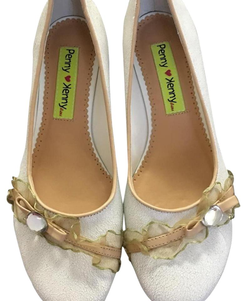 White Crystal Leather Pumps