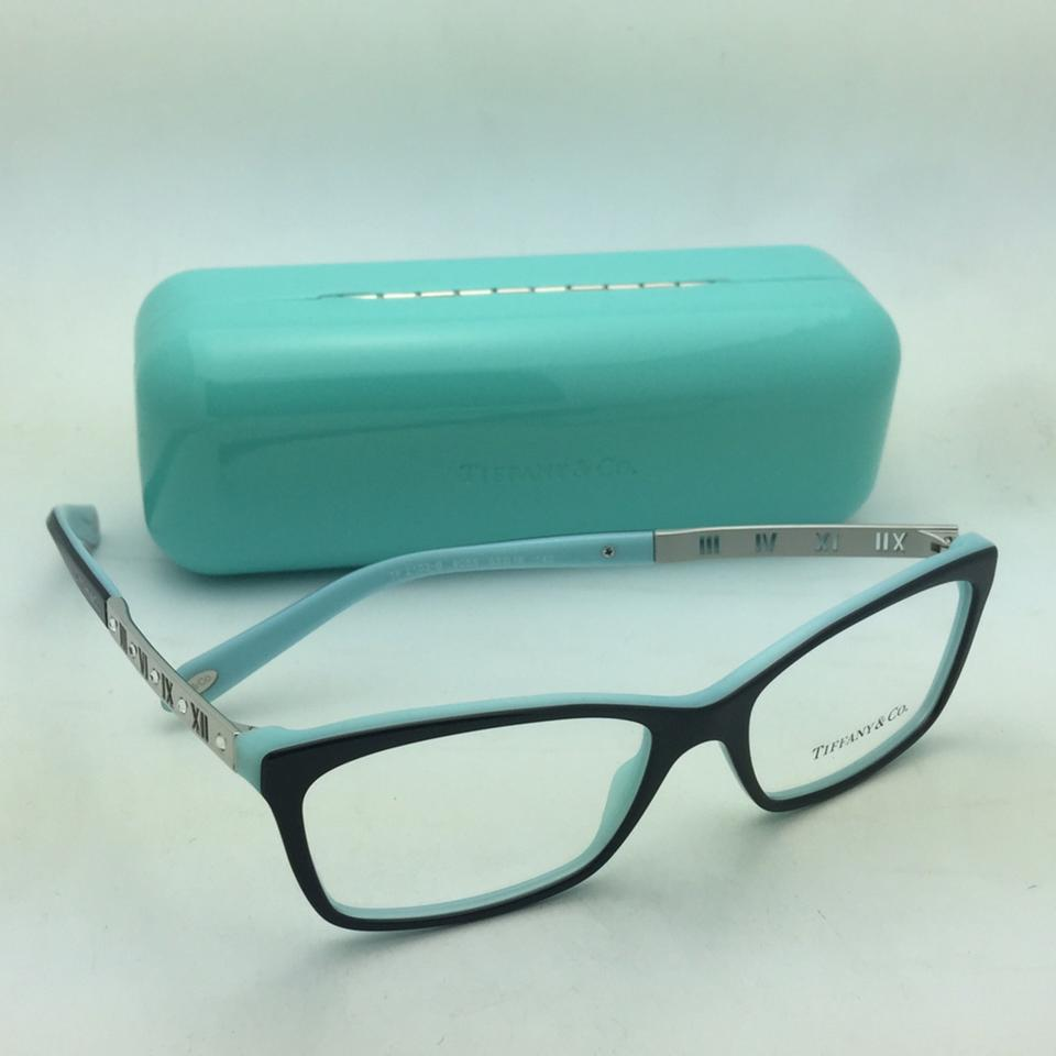 1dbb43e3a74d Tiffany   Co. Eyeglasses Atlas Collection Tf 2103-b 8055 53-16 140 Black On  Blue Frames with Silver Temple and Crystals - Tradesy