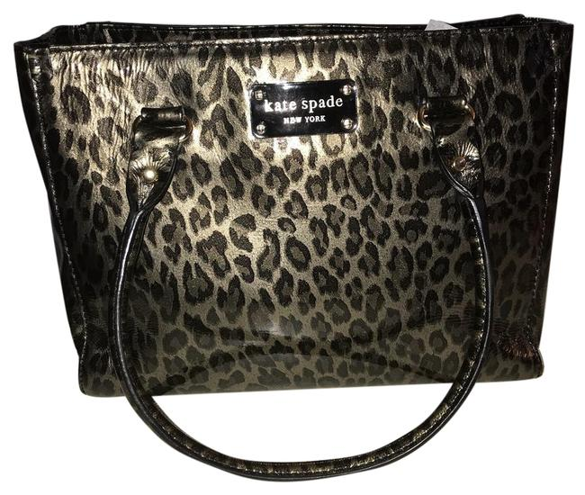Item - East West Bronze Leopard Patent Leather Tote