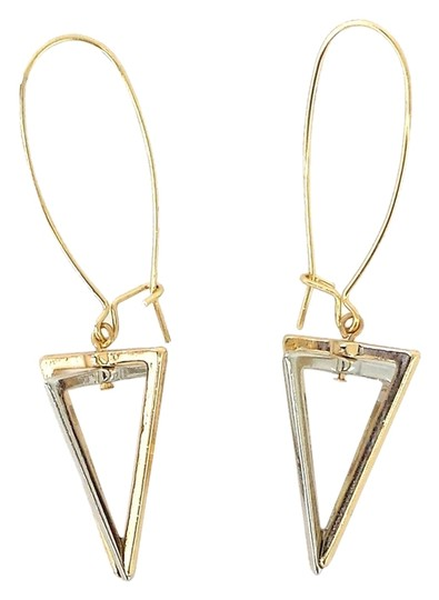 Preload https://item5.tradesy.com/images/gold-and-silver-triangle-dangle-earrings-2229724-0-0.jpg?width=440&height=440