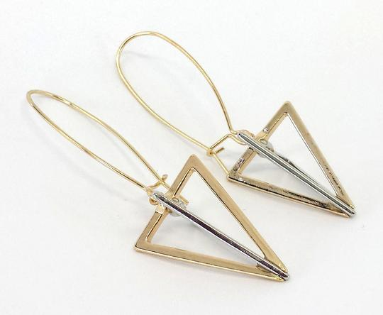 Other Gold & Silver Triangle Dangle Earrings