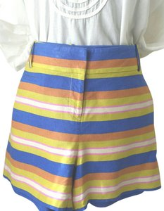 Ann Taylor LOFT 50s Culotte Style Striped Vintage Size 10 Dress Shorts Multi