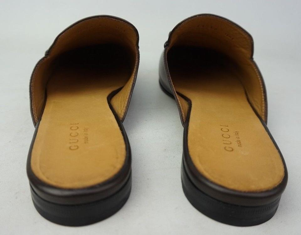e10290487 ... Size EU 38 (Approx Gucci Loafer Slides: Gucci Brown Women's Princetown  Leather Loafer Mules/Slides