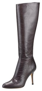 Jimmy Choo Patent Leather Grey lizard embossed Boots