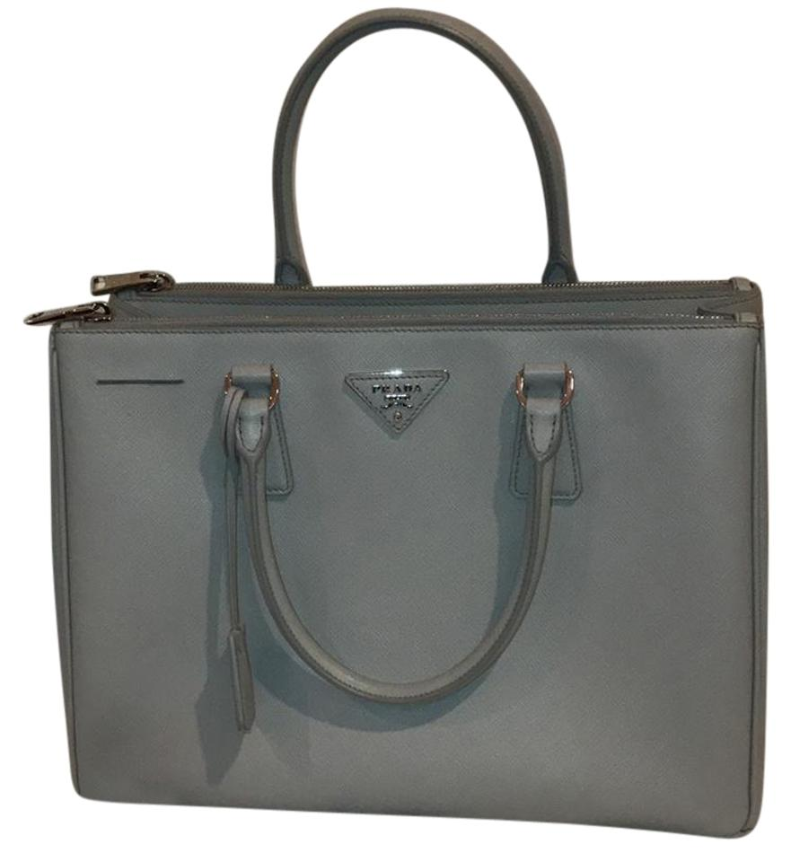 b337d36eca30 Prada Lux Saffiano Granite Light Gray Leather Tote - Tradesy