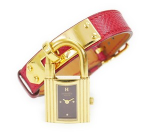 Herms Hermes Kelly Wrist Watch Gold
