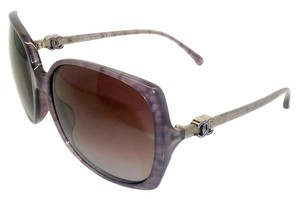 Chanel Chanel 5216 Over-sized trendy Purple Marble Sunglasses