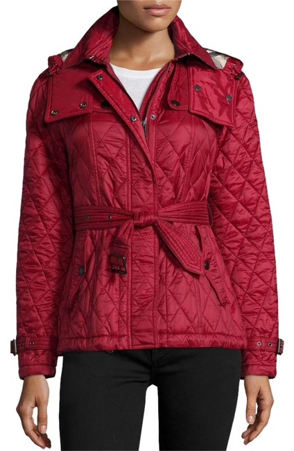 Burberry Brit Dark Finsbridge Belted Quilted Hooded