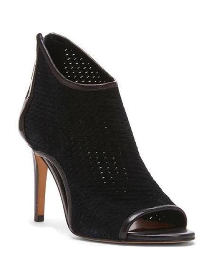 6cc06c774a0 Donald J. Pliner Black New Ashlyn Perforated Peep Boots Booties Size ...