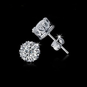 Bridal Earrings Cubic Zirconia Stud Earrings Sparkly White Crystal Stud Earrings Bridal Bridesmaid Gift