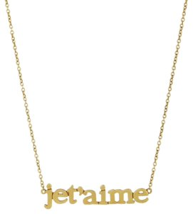 Jennifer Meyer Jewelry JENNIFER MEYER Je T'aime Necklace - Yellow Gold