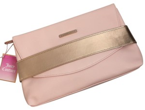 Juicy Couture Envelope Crystal Pink & Rose Gold Clutch